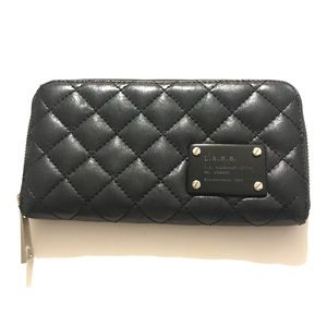 LAMB Quilted Black Leather Wallet